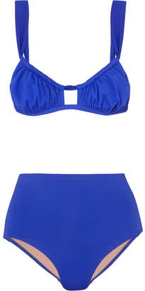Three Graces London - Bridget Ruched Bikini - Cobalt blue
