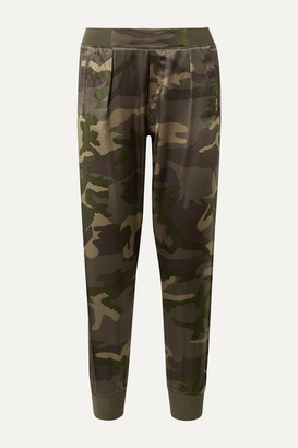 ATM Anthony Thomas Melillo Camouflage-print Silk-satin Track Pants