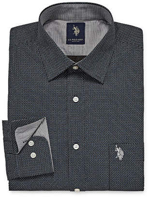 U.S. Polo Assn. USPA Dress Shirt Mens Spread Collar Long Sleeve Dress Shirt