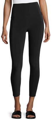 Norma Kamali Cropped High-Waist Leggings