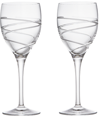 john lewis aurora cut crystal wine glasses set of 2. Black Bedroom Furniture Sets. Home Design Ideas