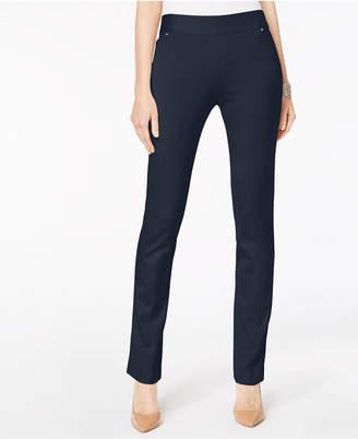 INC International Concepts I.n.c. Curvy Pull-On Straight-Leg Pants