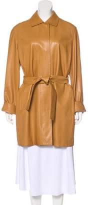 Loro Piana Belted Leather Coat