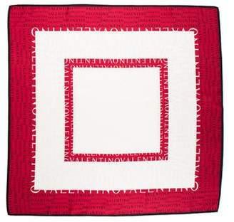 Valentino Logo Square Scarf