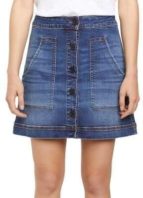 c2930372b Sanctuary Lena Button Front Denim Skirt