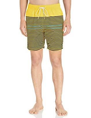 339ea9c41f Nautica Men's Quick Dry Varigated Stripe Series Swim Trunk