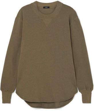 Bassike Organic Cotton-jersey Sweatshirt - Army green