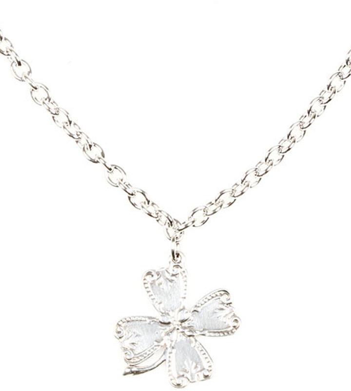 Silver Spoons Lucky Silver Clover Necklace