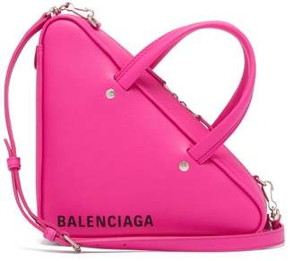Balenciaga Triangle Duffle Xs Leather Bag - Womens - Pink