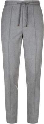 Brunello Cucinelli Leisure Fit Herringbone Trousers