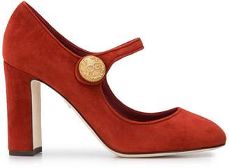Dolce & Gabbana embossed button pumps