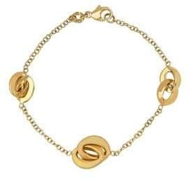 Lord & Taylor 14K Gold Interlock Chain Bracelet