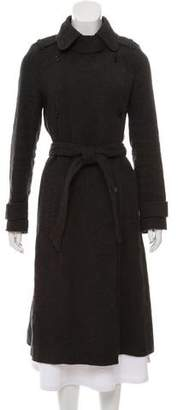 Isabel Marant Linen & Wool-Blend Double-Breasted Coat
