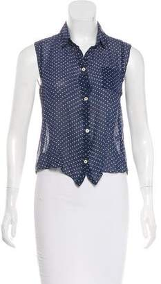 Myne Silk Polka Dot Top