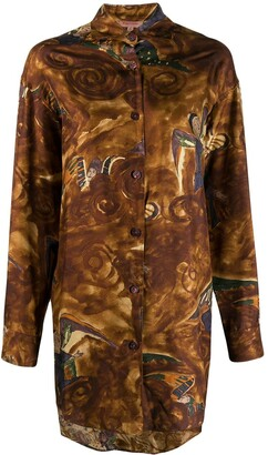 Romeo Gigli Pre-Owned 1990's angels print oversized shirt