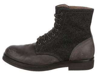 Brunello Cucinelli Wool & Leather Boots