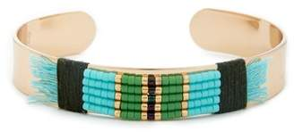 Sole Society Global Beaded Cuff Bracelet