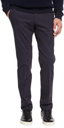 Ermenegildo Zegna Flat-Front Garment-Wash Pants