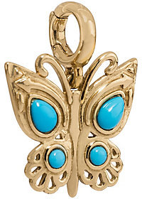 American WestAmerican West Brass & Turquoise Butterfly Charm by AmericanWest