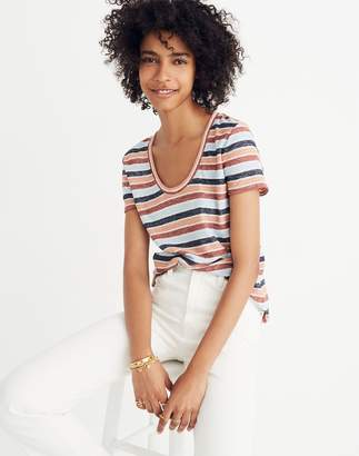 Madewell Alto Scoop Tee in Colborne Stripe