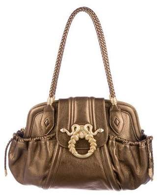 Judith Leiber Metallic Leather Shoulder Bag