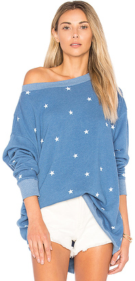 Wildfox Couture Football Star Sweater in Blue $118 thestylecure.com