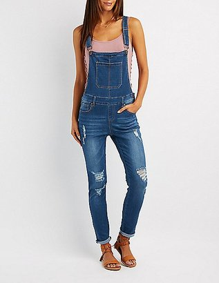 Distressed Denim Overalls $39.99 thestylecure.com