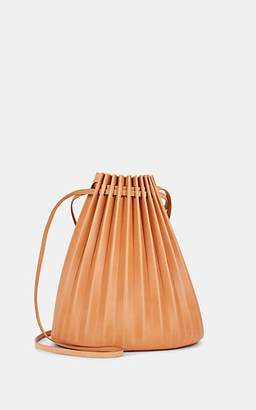 Mansur Gavriel Women's Pleated Leather Bucket Bag - Beige, Tan