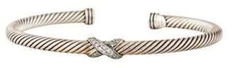 David Yurman Diamond Cable X Bracelet silver Diamond Cable X Bracelet