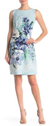 Sandra Darren Sleeveless Floral Print Midi Dress