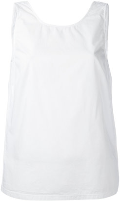 Jucca open back sleeveless blouse $98.95 thestylecure.com
