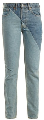 Vetements X Levi's Cross Cut Slim Leg Jeans - Womens - Denim