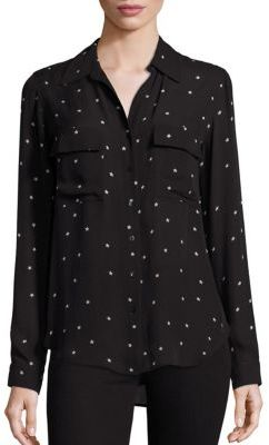 L'AGENCE Margaret Silk Star-Print Blouse $325 thestylecure.com