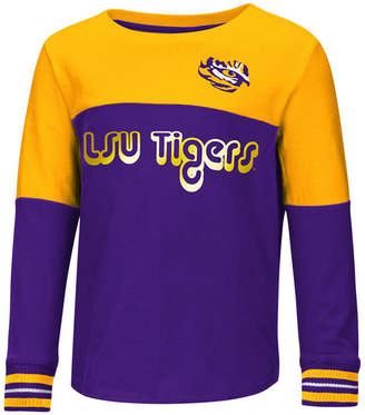 Colosseum Lsu Tigers Colorblocked Long Sleeve T-Shirt, Toddler Girls (2T-4T)