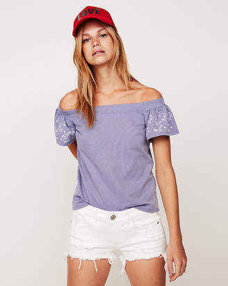 Express Off The Shoulder Puff Sleeve Blouse