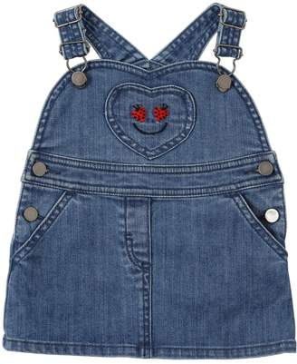 Stella McCartney Ladybugs Stretch Denim Overall Dress