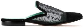 Blue Bird Shoes mesh panels mules