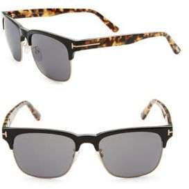 Tom Ford 55MM Clubmaster Sunglasses