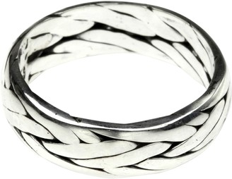 Novica Artisan Crafted Sterling Braided Band Ring