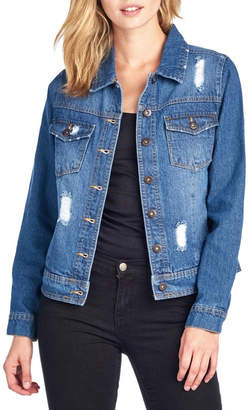 B.L.U.E. Distressed Denim Jacket