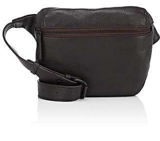 Barneys New York MEN'S LEATHER BELT BAG - DK. BROWN