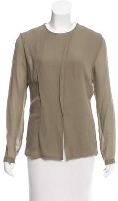 Alberta Ferretti Crew Neck Long Sleeve Blouse