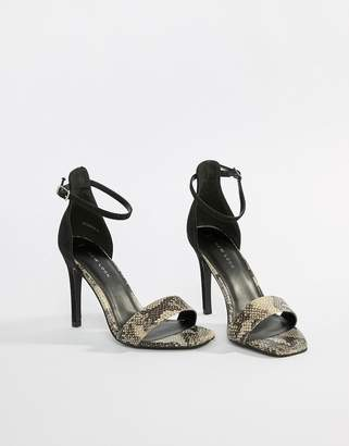 148664816a4 New Look Animal Print Heeled Sandals