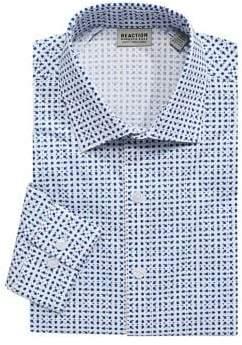 Kenneth Cole Reaction Printed Long Sleeve Dress Shirt