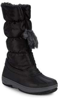 Girl's Cooper Faux Fur Quilted Boots