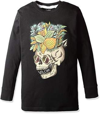 Volcom (ヴォルコム) - (ボルコム) VOLCOM 子供用 長袖 ロゴプリント Tシャツ (BASIC FIT) 【 Y3631540/Skullennon LS Tee Little Youth 】 Y3631540 BLK BLK_ブラック 3T(100)