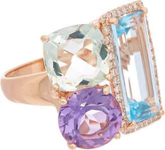 Effy Fine Jewelry 14K Rose Gold 9.93 Ct. Tw. Diamond & Gemstone Ring