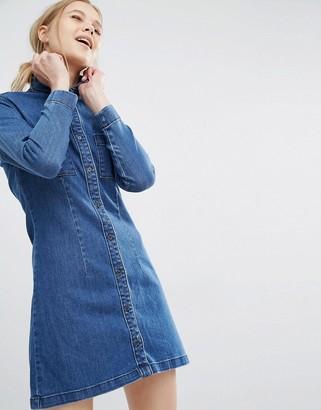 Dr Denim Fonda Denim Shirt Dress $76 thestylecure.com