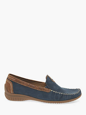 Gabor California Wide Fit Moccasins, Navy
