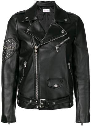 RED Valentino zipped fitted biker jacket